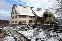 Bauerngarten im Winter